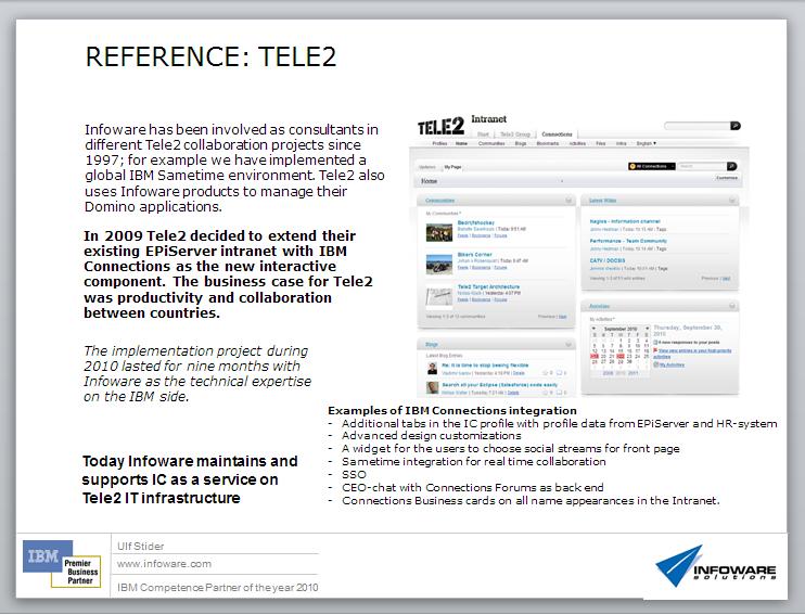 Reference case Standard Service